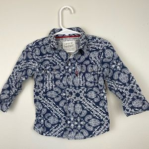 12 Month Paisley Button Down